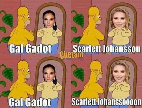 ¿#GalGadot o #ScarlettJohansson?
