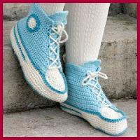 Deportivas a crochet