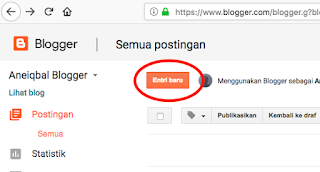 membuat artikel atau postingan di blog
