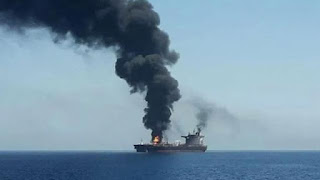 attack on iran oil tanker by missile near saudi port