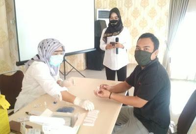 Pemprov Lampung Lakukan Rapid Test Covid-19 Kepada Puluhan Jurnalis