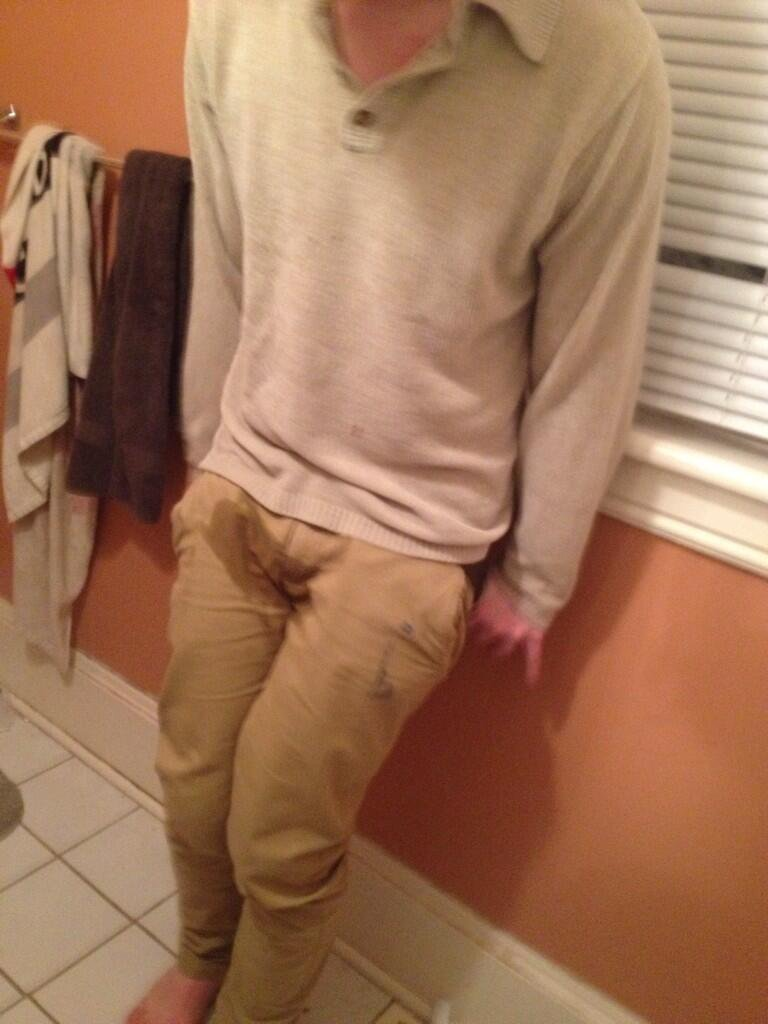 Consensual male desperation peeing instructions for