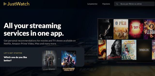JustWatch - Em que plataforma podes ver as tuas séries e filmes?
