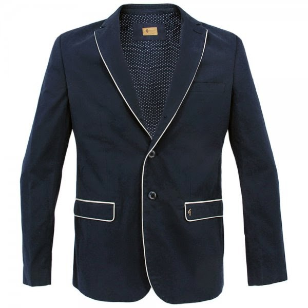 bc51b0ce5 ... or the icon of Prisoner-esque navy blazer with three button front  placket, beautiful white piping on front and pockets, with the Gabicci  branded badge, ...