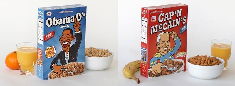 Кукурузные хлопья в коробке Обама