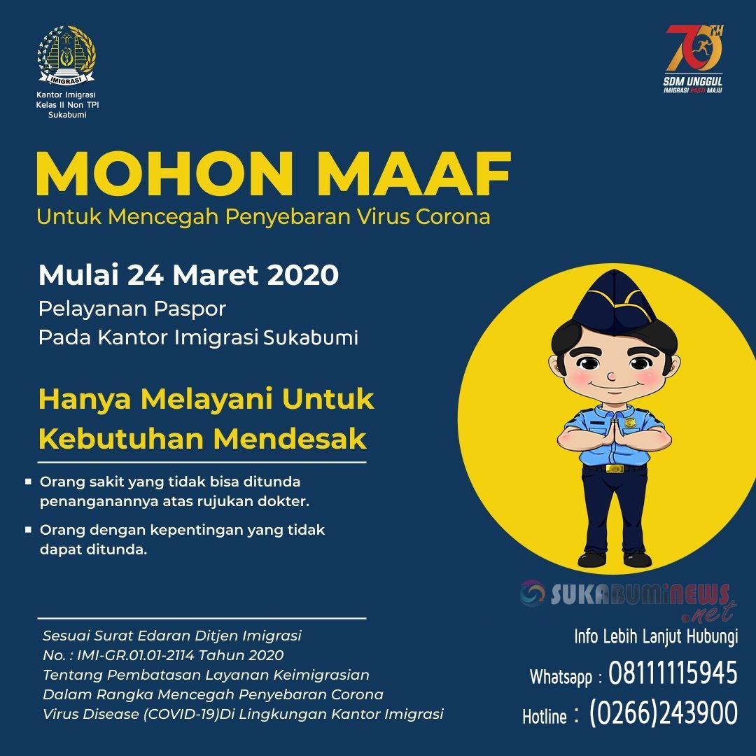 PERMOHONAN MAAF$quote=Imigrasi Sukabumi
