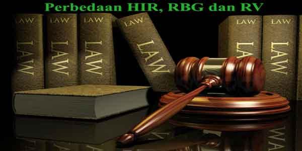 perbedaan hukum acara perdata hir rbg dan brv