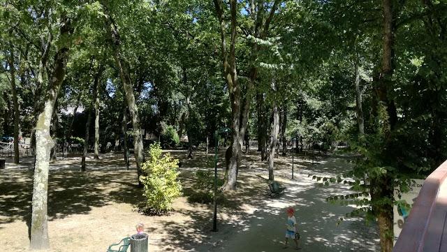 Zona de Sombra de árvores  ao lado da Praia Fluvial