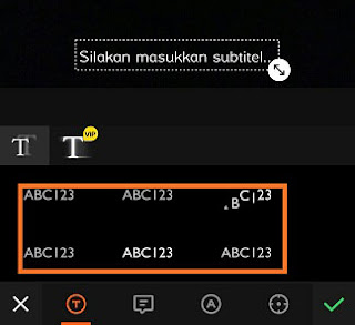 cara membuat video tulisan bergerak di viva video