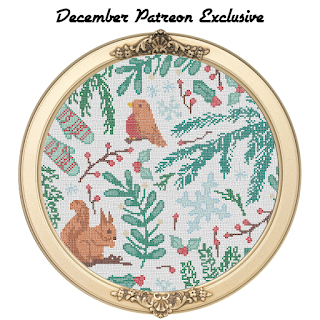 Winter Season Sampler Cross Stitch Pattern