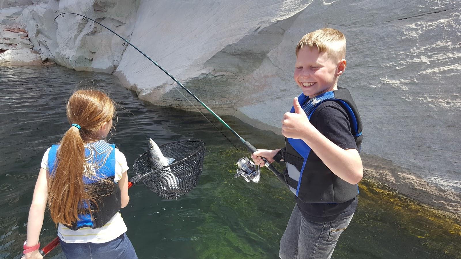 Calderwoods lake powell fishing trip for Lake powell fishing