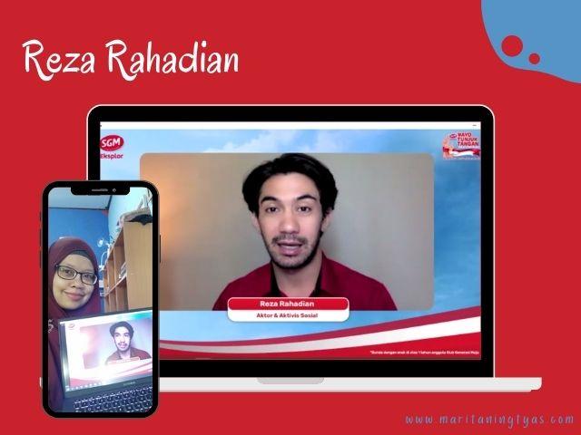Reza Rahadian dalam #AyoTunjukTangan