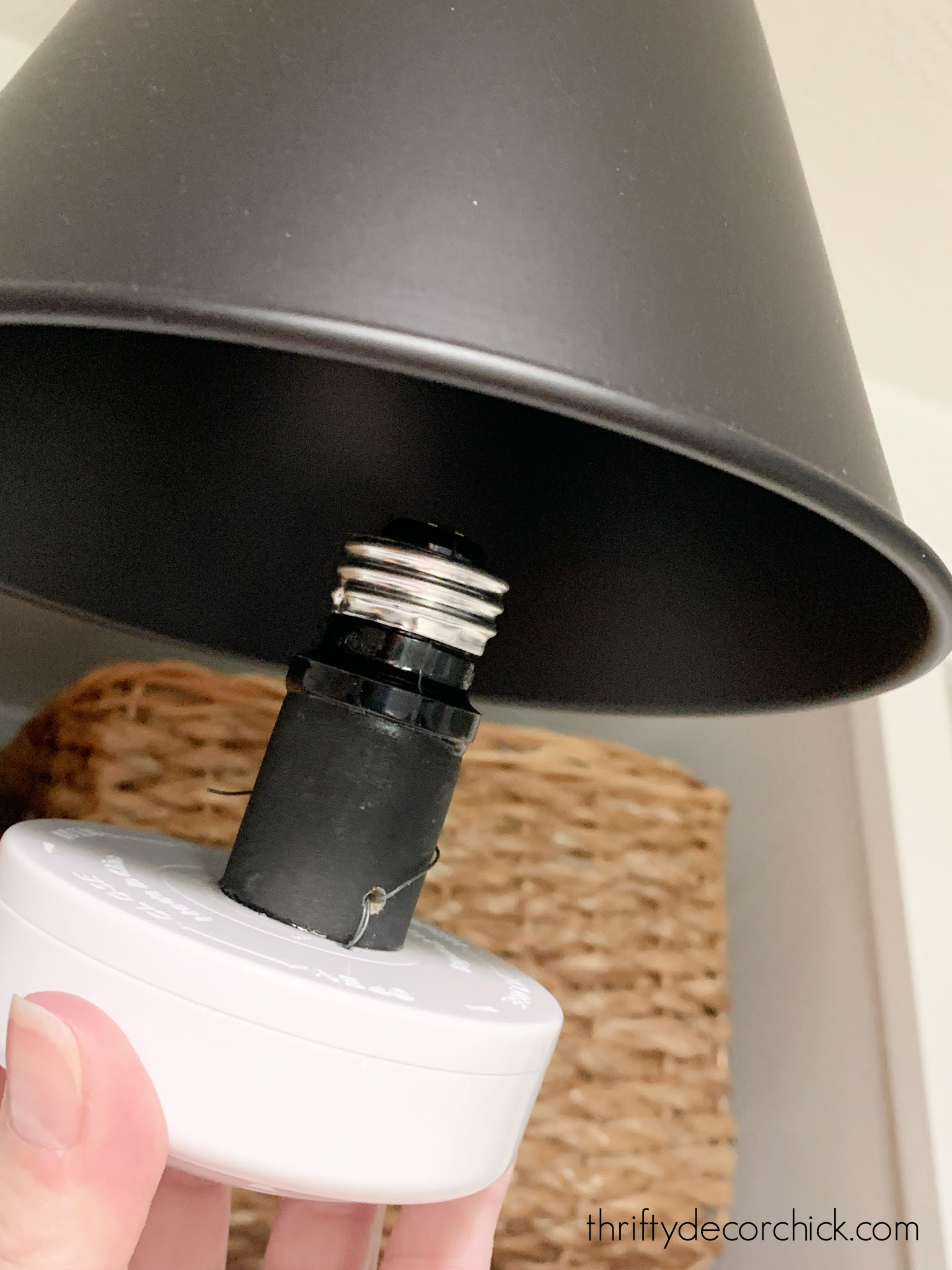 https www thriftydecorchick com 2019 07 how to add light fixture anywhere html