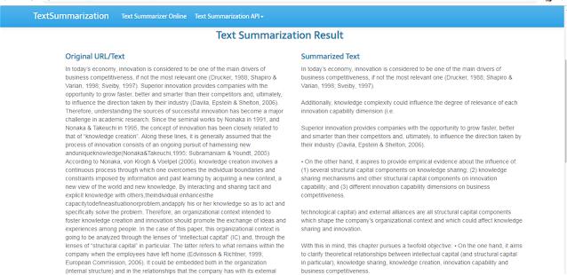 Aplikasi resume otomatis Text Summarization