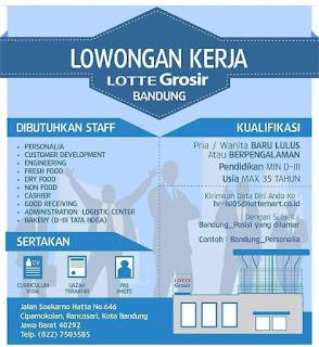 Info Lowongan Kerja Lotte Grosir Bandung
