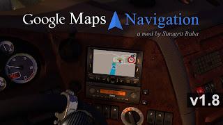 ets 2 google maps navigation v1.8