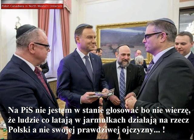 ludzie w jarmułkach nie działają na rzecz polski
