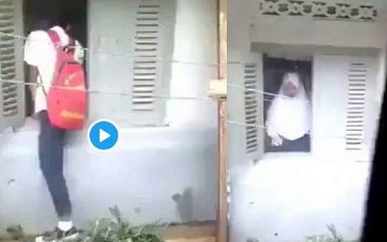 Viral! Video Siswa Masuk Lewat Jendela Dan Siswi