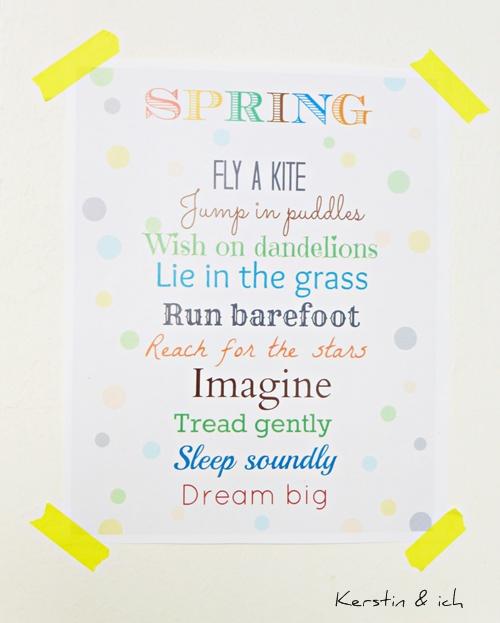 Poster Frühling Spring