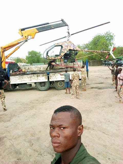 Check Out Photos Of The Helicopter Built By The Nigerian Army
