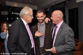 Ο Μένιος Σακελλαρόπουλος με τον Δημήτρη Κωνσταντάρα και τον Βαγγέλη Αυγουλά