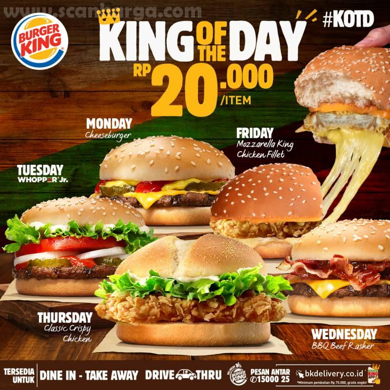 Burger King Promo KOTD: Harga Spesial Hari ini hanya Rp 20.000*1