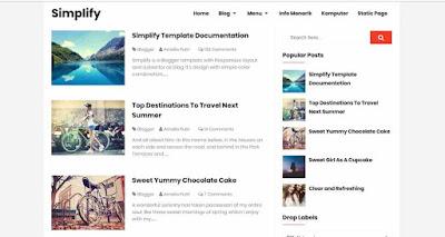 Template blogger gratis dari arlina design