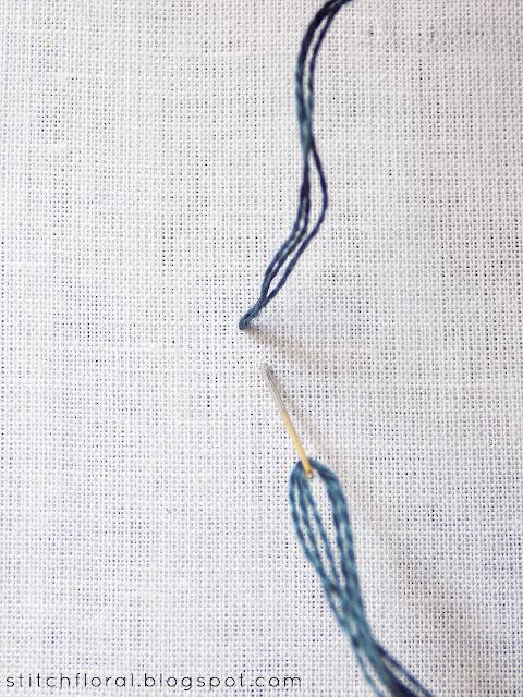 Mountmellick stitch tutorial