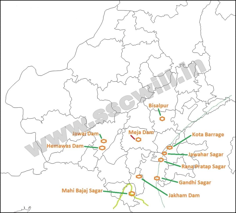 राजस्थान के प्रमुख बांध - Rajasthan Ke Pramukh Bandh