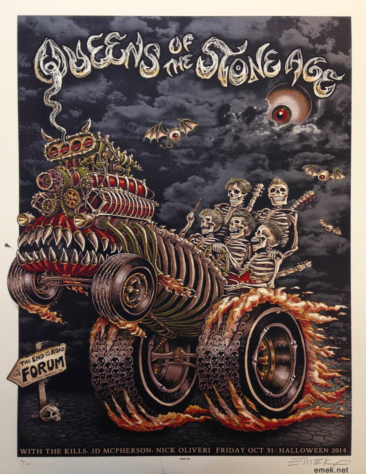 emek queens of the stone age los angeles halloween poster release - Halloween Mondo Poster
