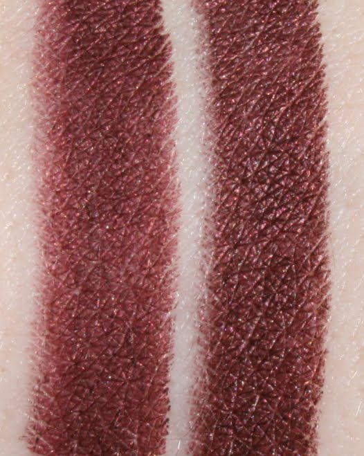 Tosowoong Makeon #S04 Sexy Vampire Burgundy, Holika Holika Jewel-Light #15 Burgundy Garnet