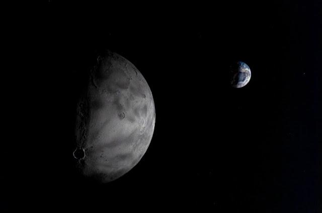 Chang'e 5 Photo of Moon and Earth