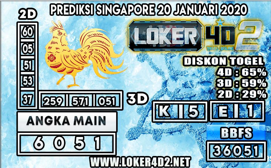 PREDIKSI TOGEL SINGAPORE LOKER4D2 20 JANUARI 2020