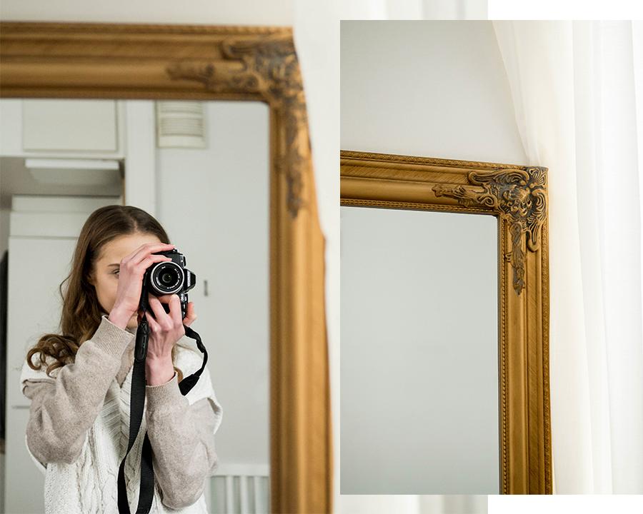 Skandinaavinen sisustus, antiikkipeili, JYSK // Scandinavian decor, antique style mirror