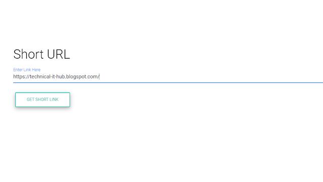 Short URL generator Using Node JS......