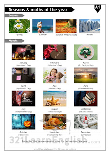 ESL vocabulary: season and months of the year (including important celebrations) (level: A1) www.321LearnEnglish.com