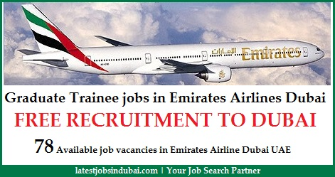 Graduate Trainee jobs in Emirates Airlines Dubai