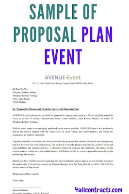 Sample of Proposal Plan Event