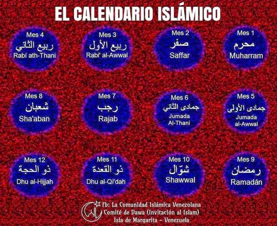 Calendario Islamico.Porque Soy Musulmana Calendario Islamico