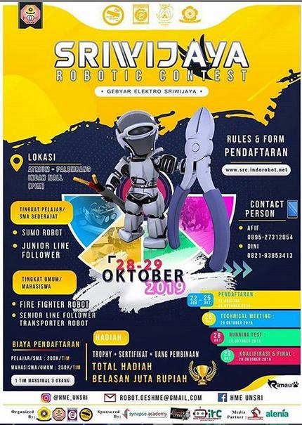 SRIWIJAYA ROBOTIC CONTEST oleh Universitas Sriwijaya