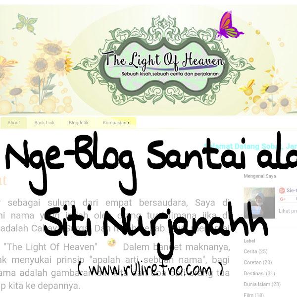 Ngeblog santai ala sie-thi Nurjanah