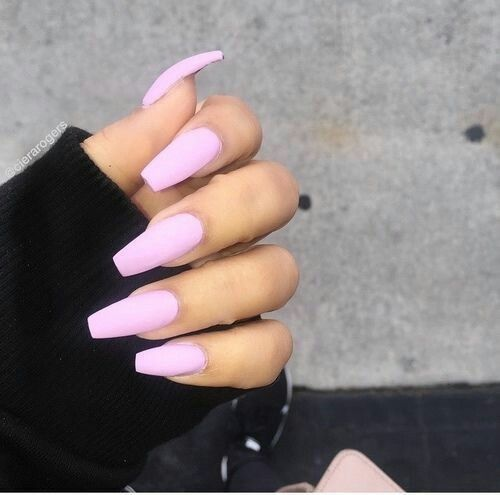 Extra Long Pink Coffin Nails