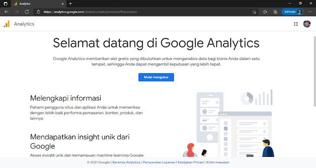 Daftar Akun Google Analytic