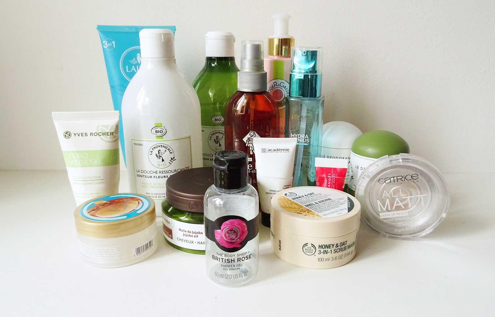 produits terminés soins visage corps cheveux maquillage
