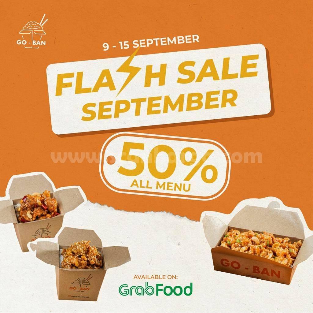 Promo GOBAN Takeout Grabfood September 2021