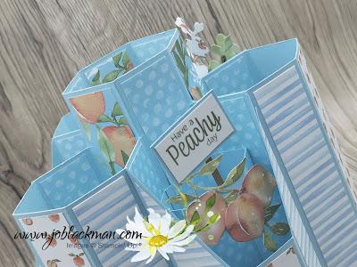 Hexagon Layered Card, Sweet as a Peach