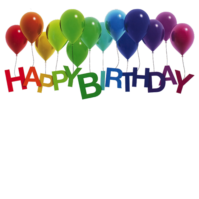 Happy Birthday png image with baloon