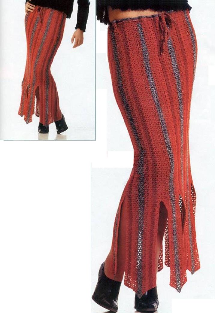 Patron Crochet Falda Picos