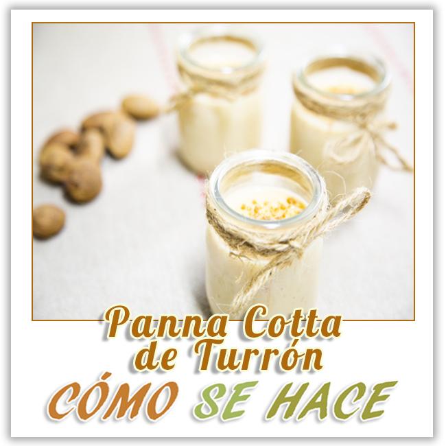 POSTRE PARA FIESTAS PANNA COTTA DE TURRÓN