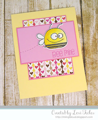 Bee Mine card-designed by Lori Tecler/Inking Aloud-stamps and dies from Paper Smooches